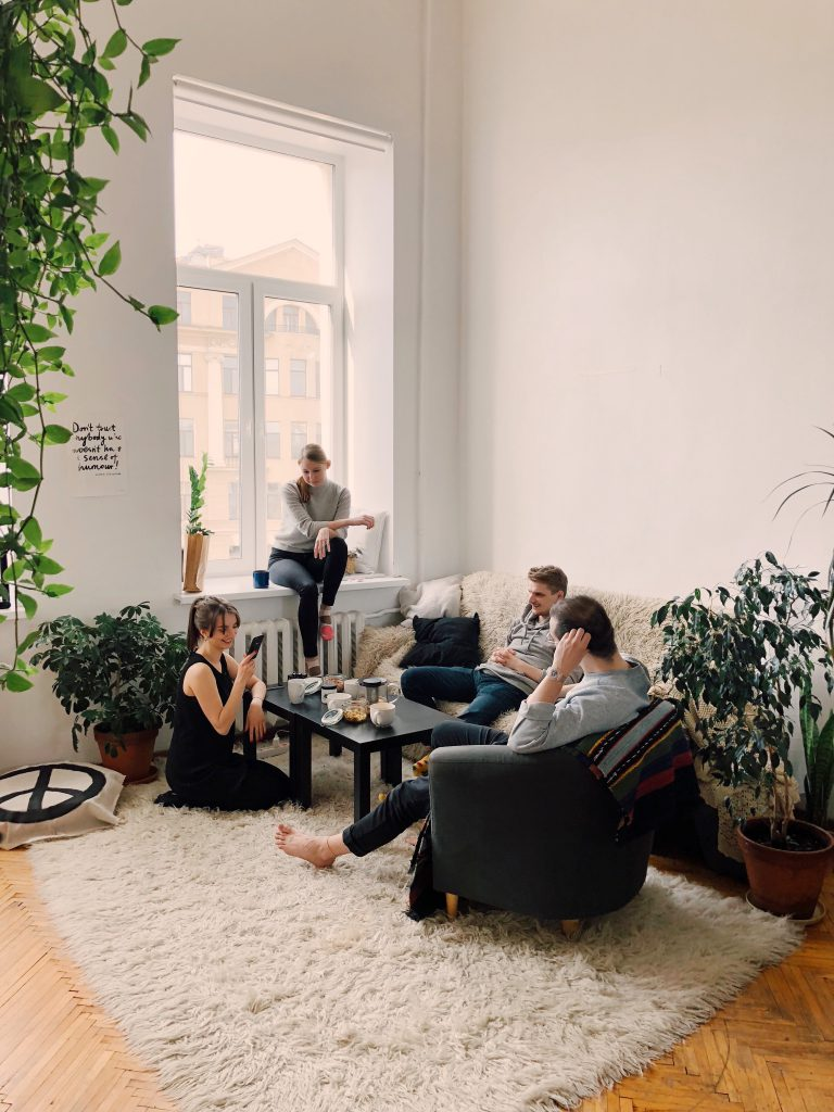 People enjoying their Airbnb