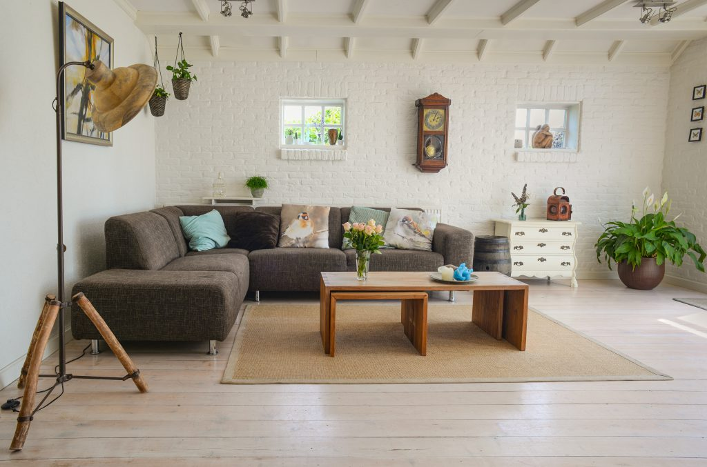 Clean and tidy sitting room for a photo shoot