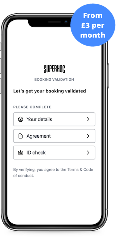 SUPERHOG booking validation on mobile with guest price