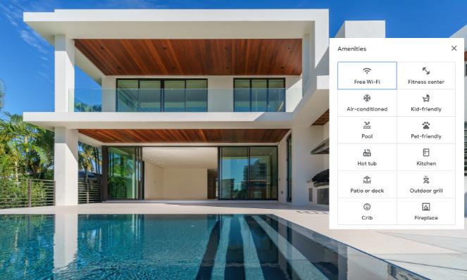 Google vacation rental filters